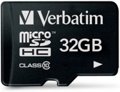 Verbatim microSDHC geheugenkaart 32GB Class 10