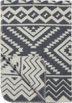 Meyco Ethnic wiegdeken flanel - 75x100cm - grijs