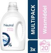 Neutral 0% Parfumvrije Wasmiddel Fijne was - 60 Wasbeurten - 3 x 1 l