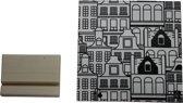Keramische Tegel Amsterdamse Huisjes-15x15cm-Inclusief houten tegelhouder-Housevitamin