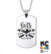 Ketting RVS - Faith