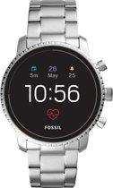 Fossil Q Explorist HR Smartwatch Roestvrijstaal GPS - Zilver