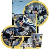 Batman themafeest tafeldecoratie pakket 8 personen