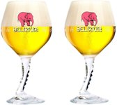 Delirium tremens glas bier glazen speciaalbier 2 stuks nieuwste editie