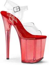 EU 35 = US 5 | FLAMINGO-808T | 8 Heel, 4 Tinted PF Ankle Strap Sandal