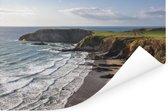 De kustlijn bij het Nationaal Park Pembrokeshire Coast in Wales Poster 90x60 cm - Foto print op Poster (wanddecoratie woonkamer / slaapkamer)
