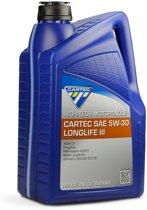 Cartec Motorolie, High-Tech Longlife III 5W-30, synthtisch, 5 l
