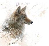 Schilderij - Wolf