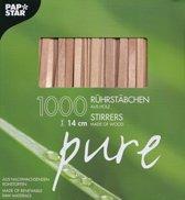 houten roerstaafjes 14 cm - 1.000 stuks