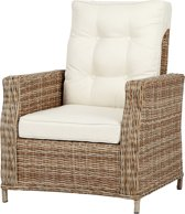 2 x Gram fauteuil tuin incl. kussen, naturel en off white.