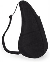 Healthy Back Bag Textured Nylon met Ipad vak Black Medium 6304-BK