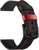 SmartphoneClip Leren bandje - Samsung Galaxy Watch (46mm) - zwart/rood