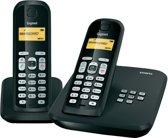 Gigaset AS300A - Duo DECT telefoon met antwoordapparaat - Zwart