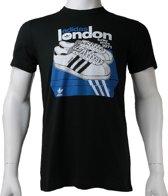 Adidas G London Tee X42101, Mannen, Zwart, T-shirt maat: XL EU