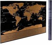 WERELDREIZIGER CADEAUTIP | Wereldkaart kras | scratch map | 82,5 x 59,5cm | Deluxe XL | Vernieuwde versie! | poster| Unlimited