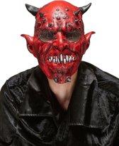 """""""Rode duivel masker voor volwassenen Halloween  - Verkleedmasker - One size"""""""