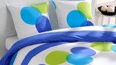 Snoozing Glenn - Dekbedovertrek - Eenpersoons - 140x200/220 cm + 1 kussensloop 65x65 cm - Blauw