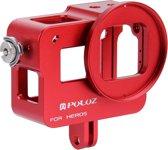 PULUZ behuizing Shell CNC Aluminum Alloy beschermende Cage met veiligheids Frame & 52mm UV Lens voor GoPro HERO5(rood)
