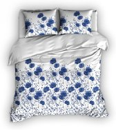 Romanette Poppies - Dekbedovertrek - Lits-jumeaux - 270x200/220 cm + 2 kussenslopen 60x70 cm - Blauw