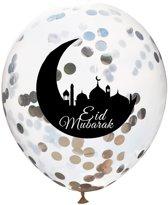Eid Mubarak Ballonen - Ramadan - Offerfeest - Suikerfeest Versiering - Decoratie - Zilver - 20 stuks
