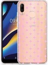 Wiko View 3 Lite Hoesje Geometrisch Pink