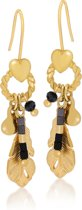 Scmyk EG-233 Magic Mirror oorbellen - goudkleurig - 4 cm