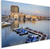 De haven van Gallipoli met vele boten in Italië Plexiglas 60x40 cm - Foto print op Glas (Plexiglas wanddecoratie)