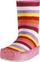 Playshoes soksloffen gestreept roze Maat: 23-26