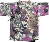 Lucky Wang NY Meisjes Kimono Paarse bloemen km - LW46- Maat 98