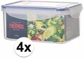 4x stuks Thermos airtight vershoud doosjes/bakjes 1.1 liter