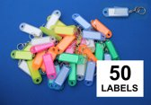 Openklapbare sleutellabels kleurassorti 60x22mm- 50 stuks