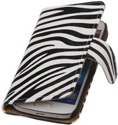 Samsung Galaxy S5 mini G800F Wit | Zebra bookstyle / book case/ wallet case Hoes  | WN™