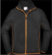 Terra Trend Job Fleecejack Zwart&Oranje - Werkkleding - L