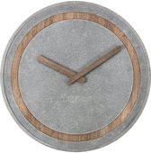 NeXtime Concreto - Klok - Stil Uurwerk - Rond - Ø39,5 cm - Grijs/Bruin