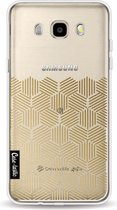 Casetastic Softcover Samsung Galaxy J5 (2016) - Golden Hexagons