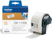 4x Brother etiketten voor QL, 38x90mm, pak a 400 etiketten