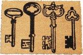 Deurmat met tekst - Kokosmat - Sleutels - 39x59cm