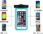 Waterdichte Hoesje voor alle Telefoons tot 6 inch – Waterdicht tot 10 meter - Waterproof Case / Pouch – Voor ALLE SMARTPHONES -LICHT BLAUW- Underdog Tech