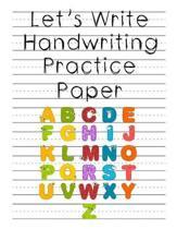 Let's Write Handwriting Practice Paper
