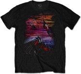 Pink Floyd - The Wall Flag & Hammers heren unisex T-shirt zwart - M