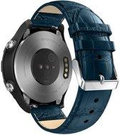 Just in Case Huawei Watch 2 Sport Bandje Crocodile Leer - Blauw