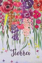 Tierra: Personalized Lined Journal - Colorful Floral Waterfall (Customized Name Gifts)