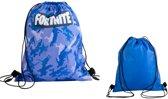 Fortnite Battle Royale gymtas – Blauw camouflage - 33 x 38 cm