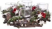 Kerst stukje met 4 theelicht houders - Ø 24 cm