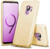 Samsung Galaxy S9 Plus Hoesje - Glitter Backcover - Goud