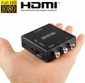 HDV-M610 Mini Size Full HD 1080P HDMI to AV/CVBS Video Converter Adapter(zwart)