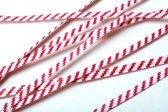 Papier Wit/Rood gestreepte TwistTies 15.2x0.4cm (1000 Stuks) [TT6WRS]