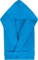 Badjas met Capuchon Uni Cool Velours Turquoise col 2334 maat S