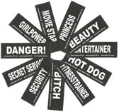 Set Labels voor Powerharness - Small tekst: ASSISTANCE DOG
