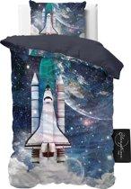 ST4KIDS Astronaut - Dekbedovertrek - Eenpersoons - 140x200 + 1 kussensloop 60x70 - Blauw